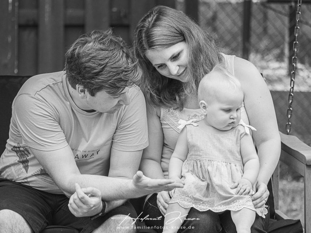 Familienfotos mit natürlichem Licht
